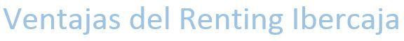renting ibercaja