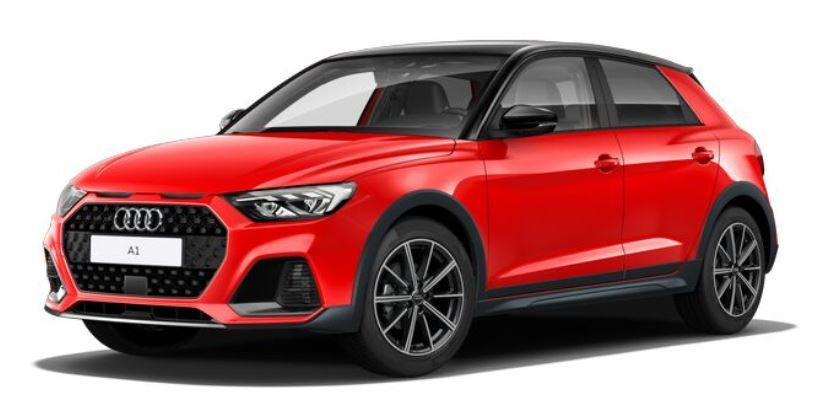 Renting audi a1 black line edition