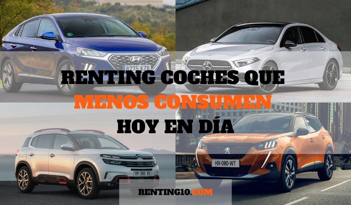 Renting coches que menos consumen hoy en día